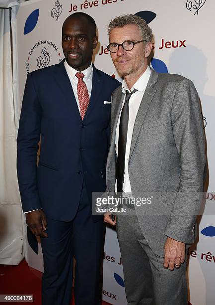 Pascal Gentil and Denis Brogniart attend the launch party for 'Je Reve Des Jeux' 'I dream about the Games' a campaign to promote Paris' bid for the...