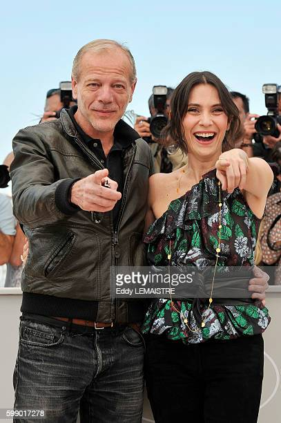 Pascal Greggory and Geraldine Pailhas at the photo call for Rebecca H during the 63rd Cannes International Film Festival