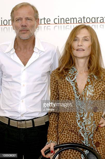 Pascal Greggory and Isabelle Huppert during 2005 Venice Film Festival 'Gabrielle' Photocall at Casino Palace in Venice Lido Italy
