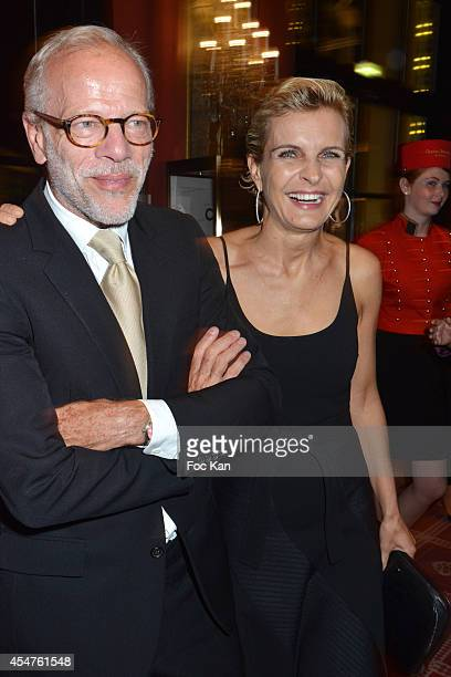 Pascal Greggory and Melita Toscan du Plantier attend the Opening Dinner Party 40th Deauville American Film Festival at the Casino Lucien Barriere on...