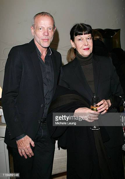Pascal Greggory and Mrs Greggory during Van Cleef and Arpels' Store Opening in Paris at 22 Place de Ven d'Ume in Paris France