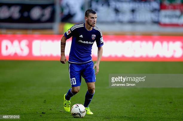 Pascal Gross of Augsburg in action during the Bundesliga match between FC Augsburg and FC Ingolstadt at WWK Arena on August 29 2015 in Augsburg...