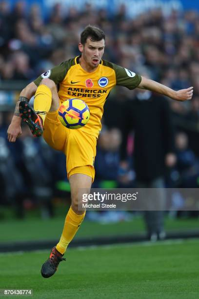 Pascal Gross of Brighton during the Premier League match between Swansea City and Brighton and Hove Albion at the Liberty Stadium on November 4 2017...