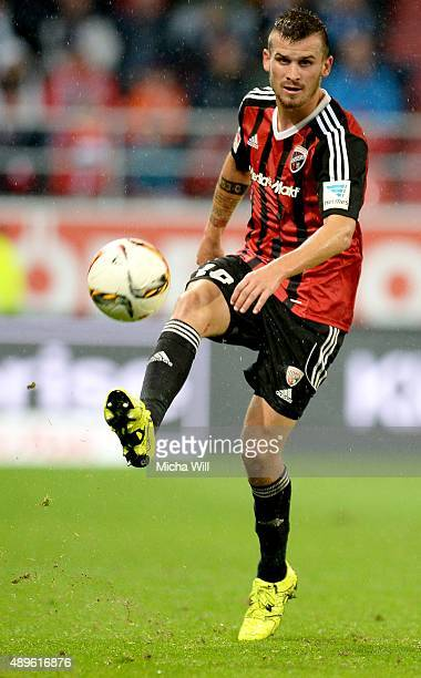 Pascal Gross of Ingolstadt controls the ball during the Bundesliga match between FC Ingolstadt and Hamburger SV at Audi Sportpark on September 22...