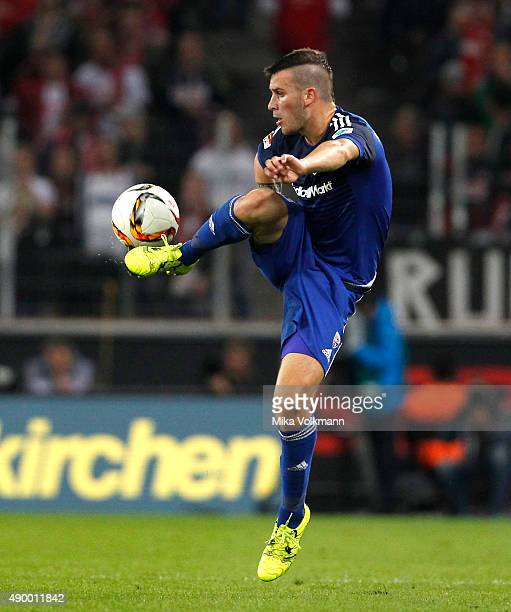 Pascal Gross of Ingolstadt controls the ball during the Bundesliga match between 1 FC Koeln and FC Ingolstadt at RheinEnergieStadion on September 25...