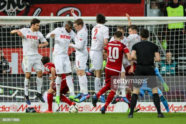 Pascal Gross of Ingolstadt in action during the Bundesliga match between FC Ingolstadt 04 and 1 FC Koeln at Audi Sportpark on March 11 2017 in...
