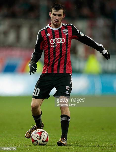 Pascal Gross of Ingolstadt in action during the Second Bundesliga match between FC Ingolstadt and 1 FC St Pauli at Audi Sportpark Arena on December...