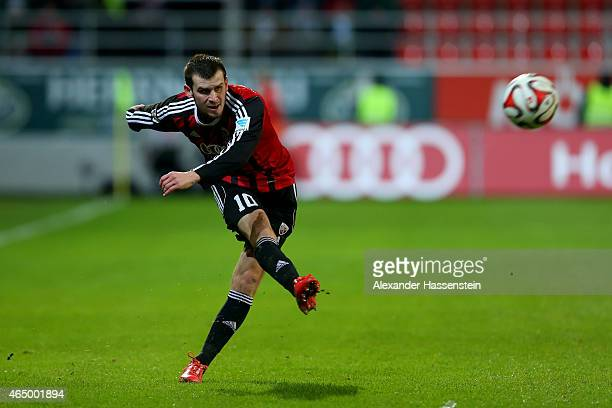 Pascal Gross of Ingolstadt runs with the ball during the Second Bundesliga match between FC Ingolstadt and 1860 Muenchen at Audi Sportpark on March 2...
