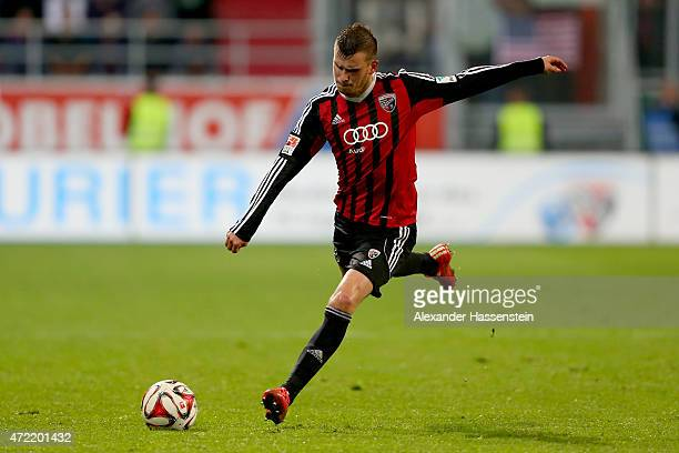 Pascal Gross of Ingolstadt runs with the ball during the Second Bundesliga match between FC Ingolstadt and 1 FC Nuernberg at Audi Sportpark on April...