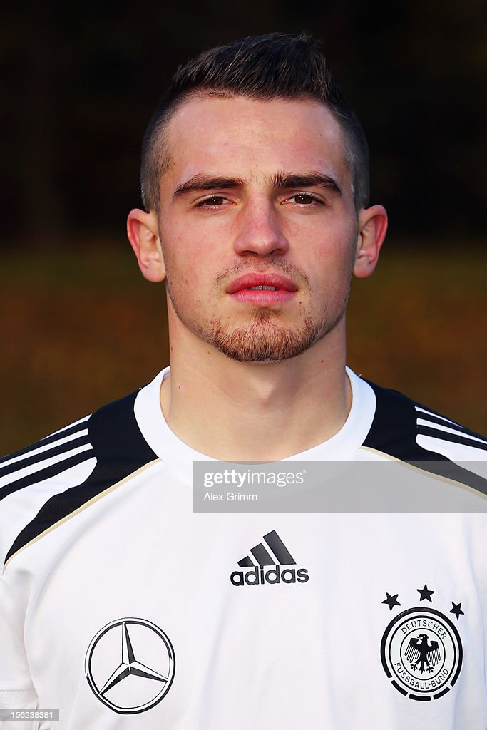 Pascal Itter poses during the Germany U18 team presentation at Commerzbank Arena on November 12, 2012 in Frankfurt am Main, Germany.
