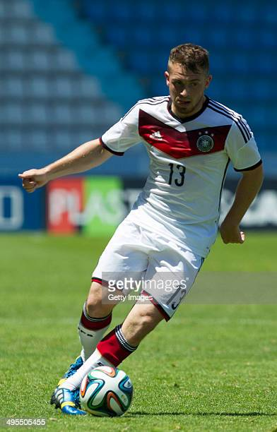 Pascal Itterof Germany during the UEFA Under19 Elite Round match between U19 Germany and U19 at Estadio Balaidos on June 2 2014 in Vigo Spain