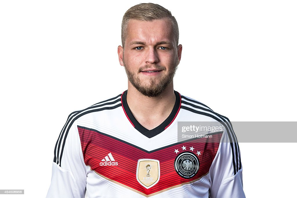 Pascal Koepke poses during the team presentation of U20 Germany at Waldstadion on September 2, 2014 in Homburg, Germany.
