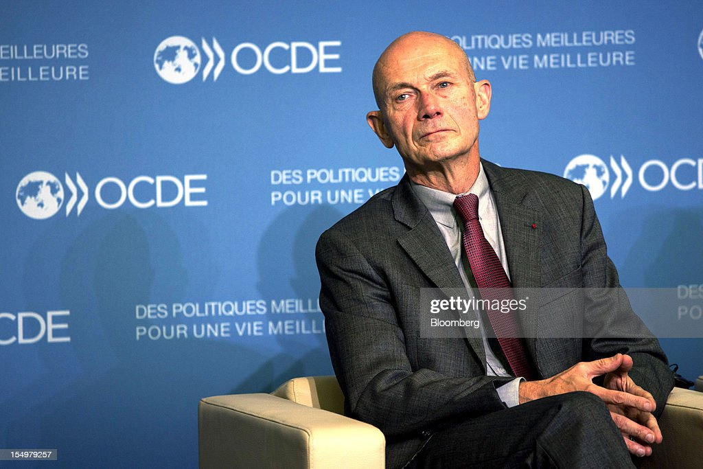 <a gi-track='captionPersonalityLinkClicked' href=/galleries/search?phrase=Pascal+Lamy&family=editorial&specificpeople=220438 ng-click='$event.stopPropagation()'>Pascal Lamy</a>, director general of the World Trade Organization (WTO), sits and listens during a news conference following a meeting hosted by the Organization for Economic Cooperation and Development (OECD) in Paris, France, on Monday, Oct. 29, 2012. French President Francois Hollande said he wants the euro group of finance ministers to find a 'durable' solution to Greece's debt problems at their November meeting. Photographer: Balint Porneczi/Bloomberg via Getty Images