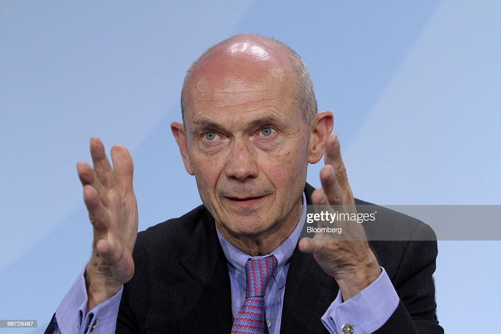 Pascal Lamy, director general of the World Trade Organization (WTO), speaks during a news conference at the German federal chancellory in Berlin, Germany, on Wednesday, April 28, 2010. German Chancellor Angela Merkel and the IMF pledged to step up efforts to overcome the Greek fiscal crisis as Standard & Poor's downgraded Spain and investors sold bonds in Europe's most indebted nations. Photographer: Michele Tantussi/Bloomberg via Getty Images
