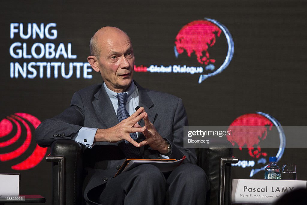 <a gi-track='captionPersonalityLinkClicked' href=/galleries/search?phrase=Pascal+Lamy&family=editorial&specificpeople=220438 ng-click='$event.stopPropagation()'>Pascal Lamy</a>, former director general of the World Trade Organization (WTO), reacts during the Asia-Global Dialogue conference in Hong Kong, China, on Friday, Dec. 6, 2013. The Asia-Global Dialogue conference concludes today. Photographer: Jerome Favre/Bloomberg via Getty Images