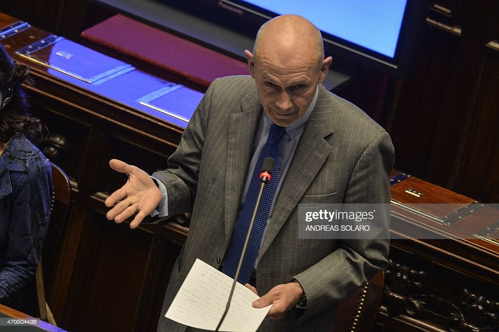 <a gi-track='captionPersonalityLinkClicked' href=/galleries/search?phrase=Pascal+Lamy&family=editorial&specificpeople=220438 ng-click='$event.stopPropagation()'>Pascal Lamy</a>, former head of the World Trade Organisation and former European Commissioner , delivers a speech during the session ' The role of European Union Parliaments in negotiations on international Treaties' to the Conference of the speakers of the European Union parliaments at Montecitorio, the italian Chamber of Deputies, in Rome on April 21, 2015.
