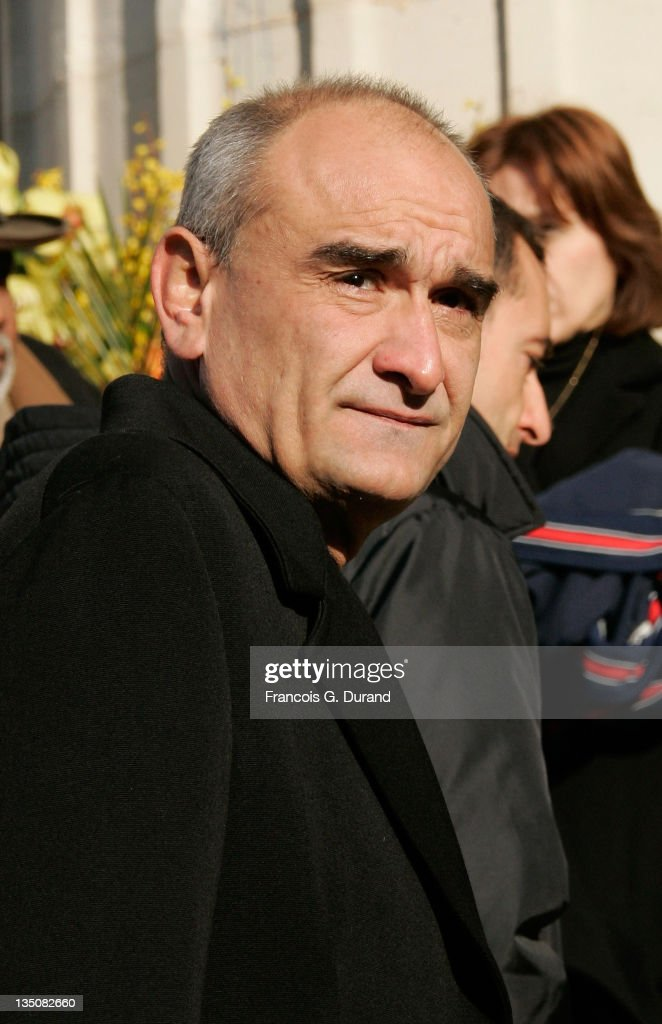 Pascal Negre arrives at the Madeleine Church in Paris to attend French crooner Henri Salvador's funeral ceremony on February 16 2008 in Paris France