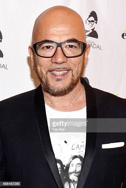 Pascal Obispo attends The 'Eram By Ines Olympe Mercadal' Capsule Show At Musee Des Arts Decoratifs on April 2 2015 in Paris France