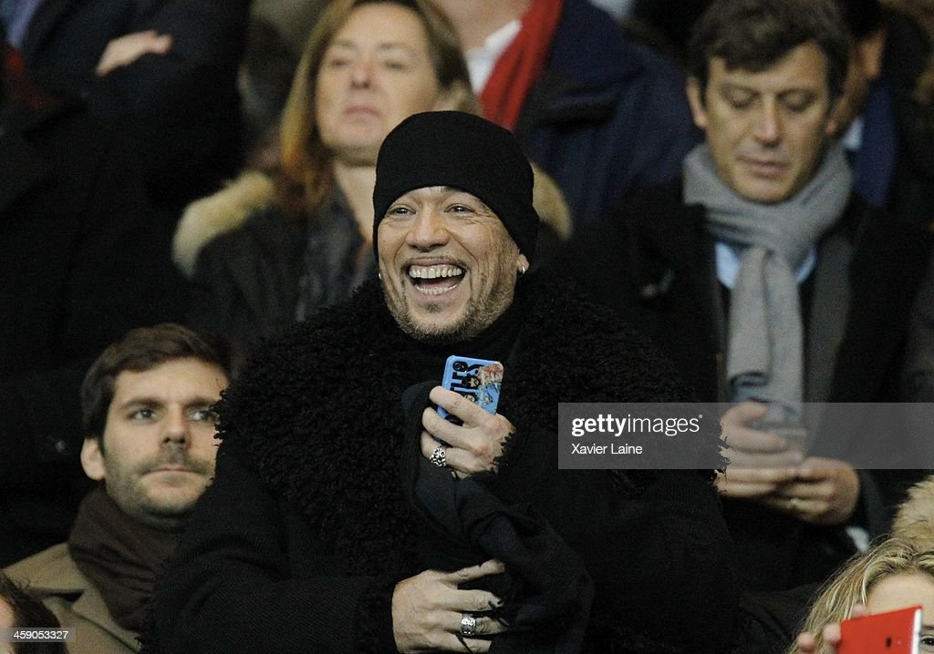 <a gi-track='captionPersonalityLinkClicked' href=/galleries/search?phrase=Pascal+Obispo&family=editorial&specificpeople=549855 ng-click='$event.stopPropagation()'>Pascal Obispo</a> attends the French Ligue 1 between Paris Saint-Germain FC and LOSC Lille FC at Parc Des Princes on december 22, 2013 in Paris, France.