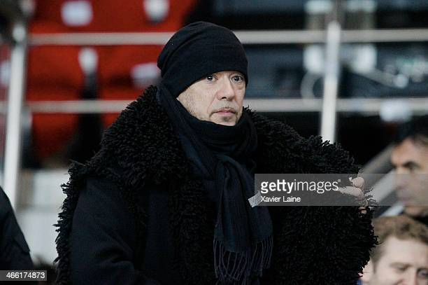 Pascal Obispo attends the French Ligue 1 between Paris SaintGermain FC and FC Girondins de Bordeaux at Parc Des Princes on january 31 2014 in Paris...