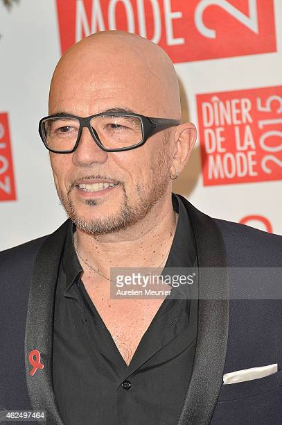 Pascal Obispo attends the Sidaction Gala Dinner 2015 at Pavillon d'Armenonville on January 29 2015 in Paris France