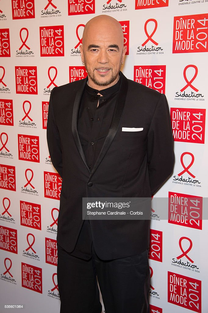 Pascal Obispo attends the Sidaction Gala Dinner at Pavillon d'Armenonville, in Paris.