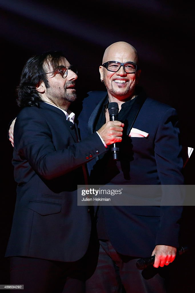 <a gi-track='captionPersonalityLinkClicked' href=/galleries/search?phrase=Pascal+Obispo&family=editorial&specificpeople=549855 ng-click='$event.stopPropagation()'>Pascal Obispo</a> is pictured with <a gi-track='captionPersonalityLinkClicked' href=/galleries/search?phrase=Andre+Manoukian&family=editorial&specificpeople=4340464 ng-click='$event.stopPropagation()'>Andre Manoukian</a> (L) after being awarded during 'Les Grands Prix De La SACEM 2014' at L'Olympia on November 24, 2014 in Paris, France.