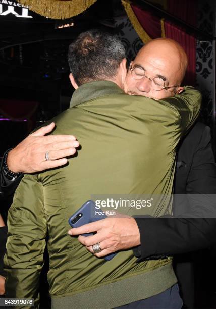 Pascal Osbipo and Youri Djorkaeff attend the HYT Watches Launch Party at VIP Room Theater on September 7 2017 in Paris France
