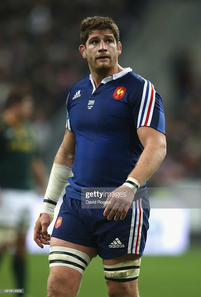 <a gi-track='captionPersonalityLinkClicked' href=/galleries/search?phrase=Pascal+Pape&family=editorial&specificpeople=780512 ng-click='$event.stopPropagation()'>Pascal Pape</a> of France looks on during the International match between France and South Africa at Stade de France on November 23, 2013 in Paris, France.