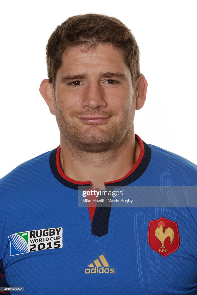 Pascal Pape of France poses during the France Rugby World Cup 2015 squad photo call at the Selsdon Park Hotel on September 15, 2015 in Croydon, England.