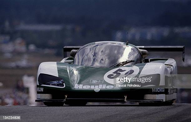 Pascal Pessiot of France drives the WM Secateva WM P489 Peugeot during practice for the FIA World Sportscar Championship 24 Hours of Le Mans race on...