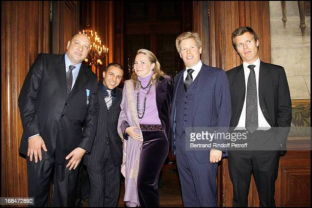 Pascal Renouard De Valliere Faudel Prince Alexandre De Liechtenstein and wife Princesse Astrid and Prince Wenceslas De Liechtenstein at Pascal...