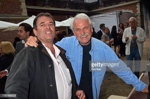 Pascal Rostain and Yann Arthus Bertrand attend the 'Photo' Magazine Celebrates Its 500 Issue At Parc De Bagatelle on June 17 2013 in Paris France
