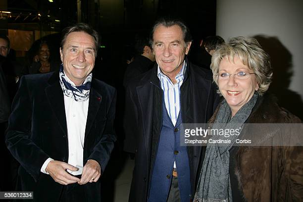 Pascal Sevran William Leymergie and Francoise Laborde at the France Television Foundation presentation