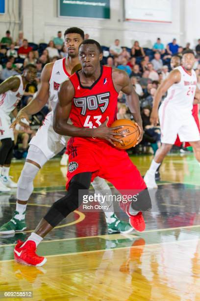 Pascal Siakam of the Raptors 905 drives against the Maine Red Claws in Game 1 of the NBADL Eastern Conference Finals on Sunday April 16 2017 at the...