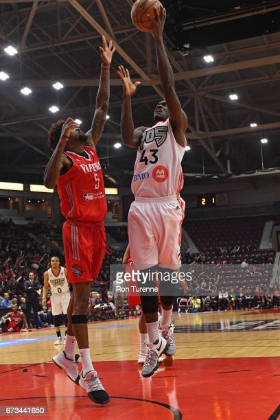 Pascal Siakam of the Raptors 905 drives to the basket against the Rio Grande Valley Vipers during Game Two of the DLeague Finals at the Hershey...