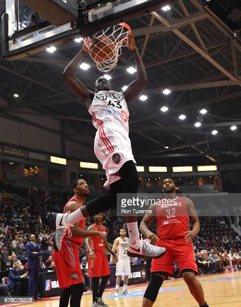 Pascal Siakam of the Raptors 905 dunks the ball during Game Two of the DLeague Finals against the Rio Grande Valley Vipers at the Hershey Centre on...