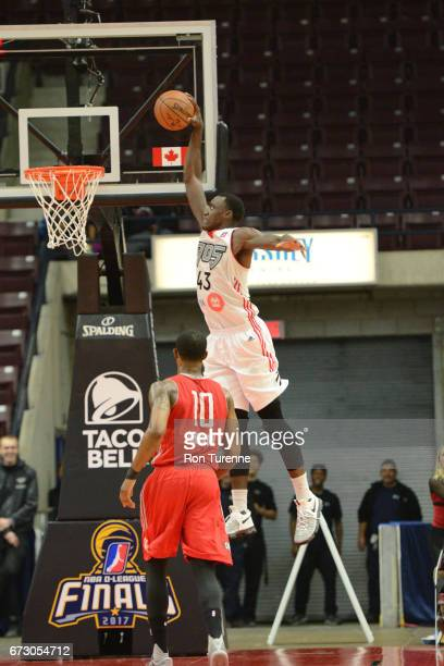 Pascal Siakam of the Raptors 905 goes up for the jam during Game Two of the DLeague Finals against the Rio Grande Valley Vipers at the Hershey Centre...
