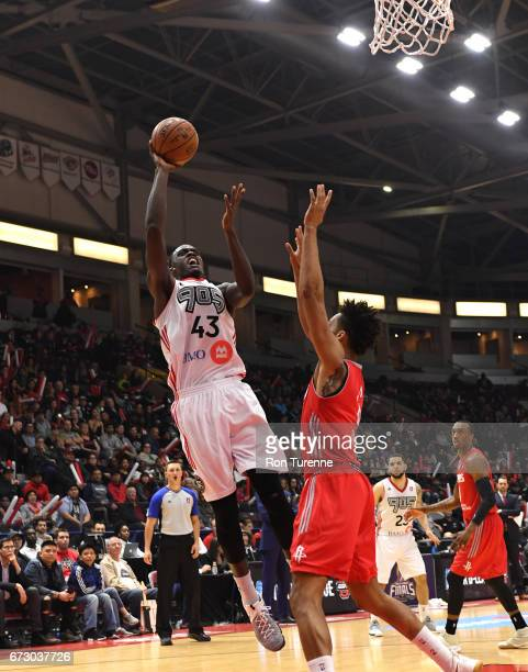 Pascal Siakam of the Raptors 905 goes up for the shot during Game Two of the DLeague Finals against the Rio Grande Valley Vipers at the Hershey...