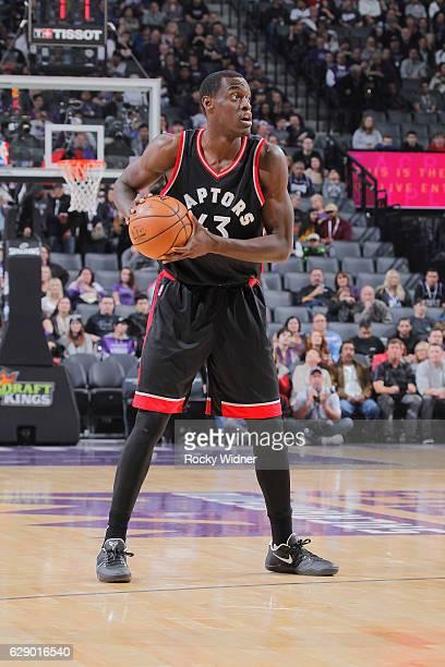 Pascal Siakam of the Toronto Raptors handles the ball against the Sacramento Kings on November 20 2016 at Golden 1 Center in Sacramento California...