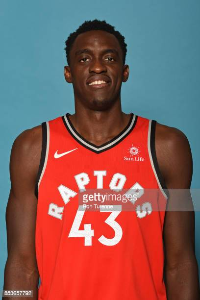 Pascal Siakam of the Toronto Raptors poses for a head shot during Media Day on September 25 2017 at the BioSteel Centre in Toronto Ontario Canada...