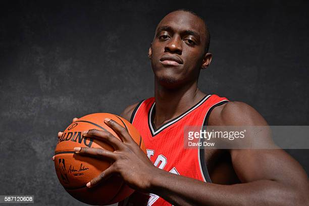 Pascal Siakam of the Toronto Raptors poses for a photo during the 2016 NBA Rookie Shoot on August 7 2016 at the Madison Square Garden Training Center...