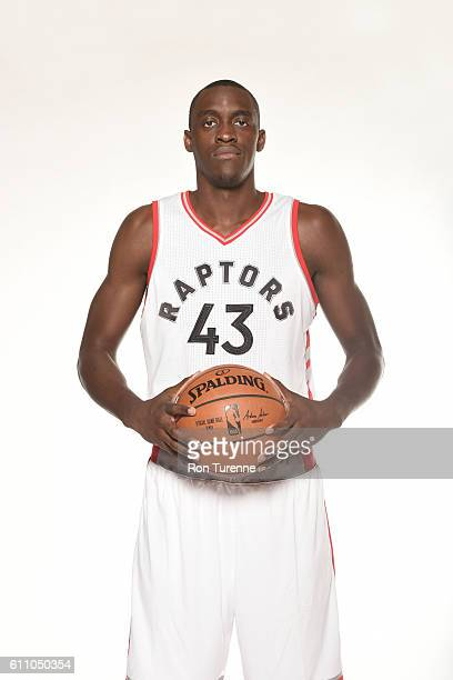 Pascal Siakam of the Toronto Raptors poses for a portrait during 2016 Media Day on September 28 2016 at the BioSteel Centre in Toronto Ontario Canada...