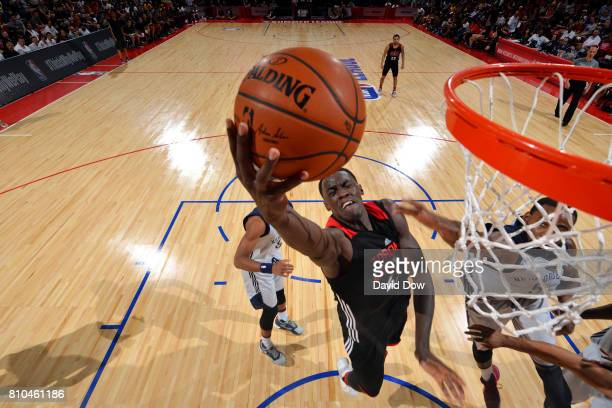Pascal Siakam of the Toronto Raptors shoots a lay up during the game against the New Orleans Pelicans during the 2017 Las Vegas Summer League on July...