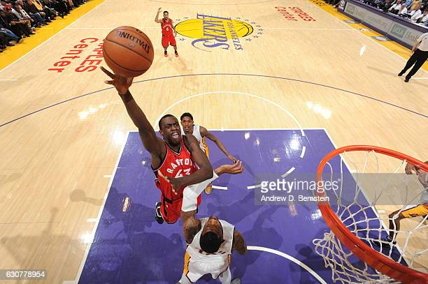 Pascal Siakam of the Toronto Raptors shoots the ball against the Los Angeles Lakers on January 1 2017 at STAPLES Center in Los Angeles California...