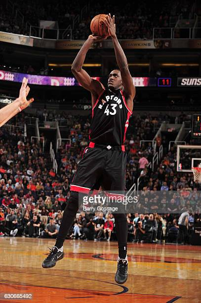 Pascal Siakam of the Toronto Raptors shoots the ball during a game against the Phoenix Suns on December 29 2016 at Talking Stick Resort Arena in...