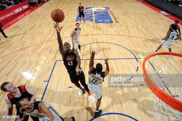 Pascal Siakam of the Toronto Raptors shoots the ball during the game against the Minnesota Timberwolves during the 2017 Las Vegas Summer League on...