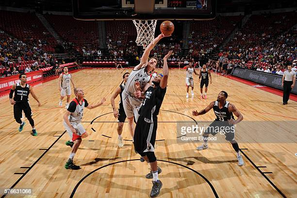 Pascal Siakam of Toronto Raptors shoots the ball against the Minnesota Timberwolves during the 2016 Las Vegas Summer League on July 16 2016 at the...