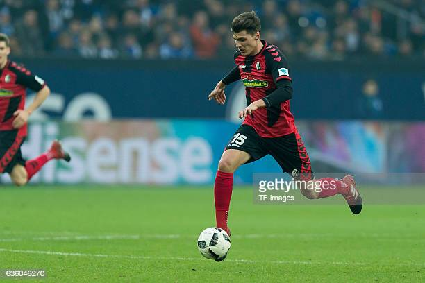 Pascal Stenzel of Freiburg in action during the Bundesliga match between FC Schalke 04 and SC Freiburg at VeltinsArena on December 17 2016 in...