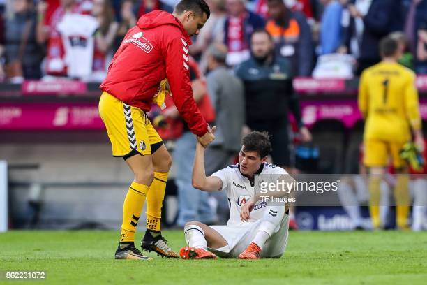 Pascal Stenzel of Freiburg looks dejected during the Bundesliga soccer match between FC Bayern Munich and SC Freiburg at Allianz Arena in Munich...